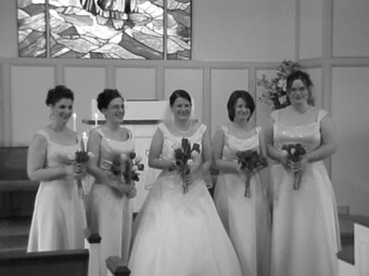 Bridemaids and the bride